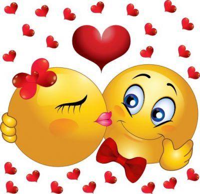 caritas enamoradas animadas besandose