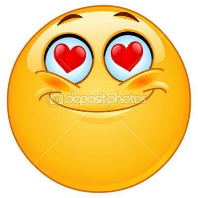 caritas enamoradas animadas sonriente