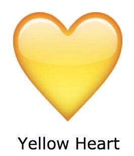 corazon grande whatsapp corazon amarillo