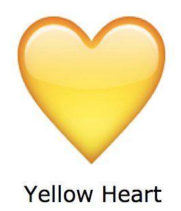 corazon grande whatsapp corazon amarillo