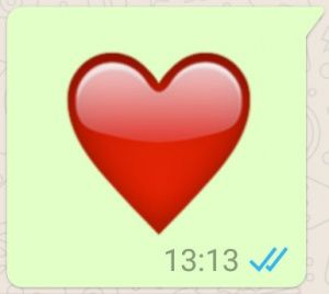corazon grande whatsapp corazon verde