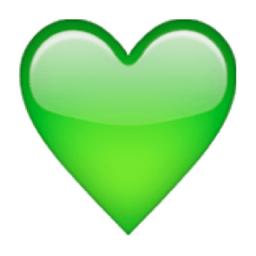 corazones emoticono corazon verde
