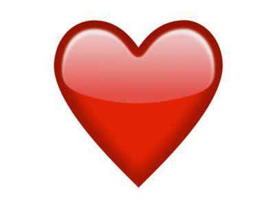 corazones emoticono de color rojo