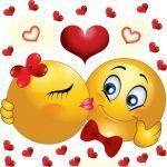 Envía hoy un emoticón beso con corazón