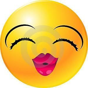 emoticon beso con corazon labios