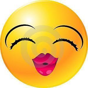 emoticon beso con corazon labios