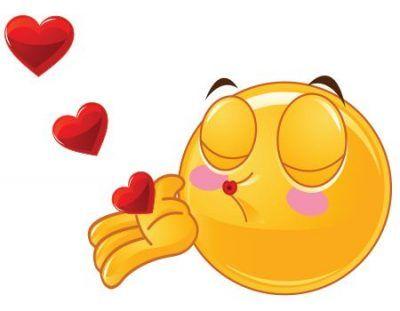 emoticon beso con corazon whatsapp