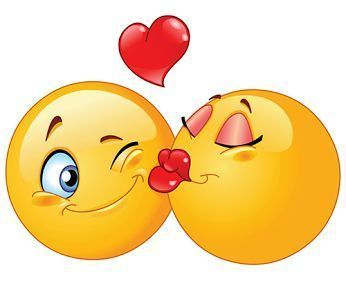 emoticon beso con corazon
