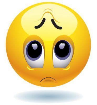emoticon de carita triste apenado