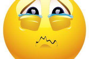 emoticon de carita triste lloroso