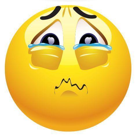 Expresa tus sentimientos con el emoticón de carita triste