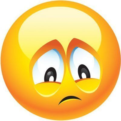 emoticon de carita triste solito