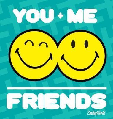 emoticones de amistad felices
