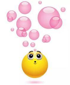 emoticones de amor con movimiento con burbujas