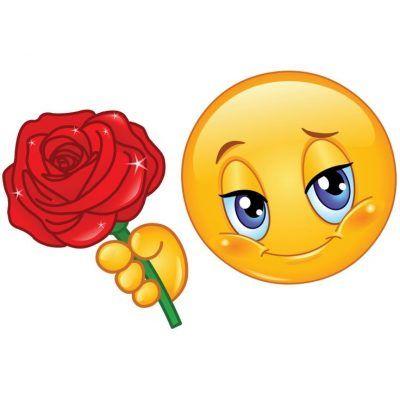 emoticones de amor con movimiento con flor