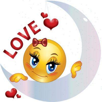 emoticones romanticos con corazones