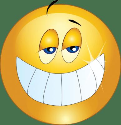 emoticonos sonrientes con dientes