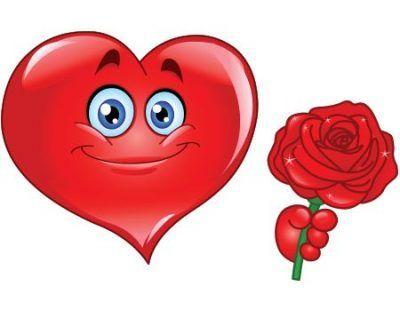 imagenes de emoticones de amor para colorear