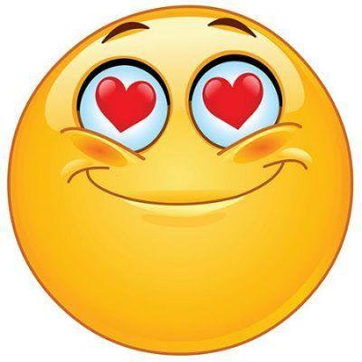 imagenes de emoticones enamorados ojos de corazones
