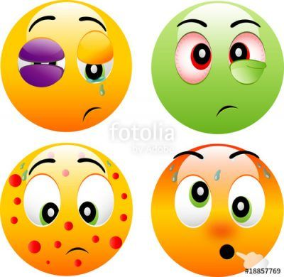 imagenes de emoticones enfermos