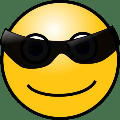 imagenes de emoticones felices con lentes