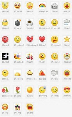 emoticones lista completa