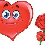 Lindos emoji corazon para compartir en facebook