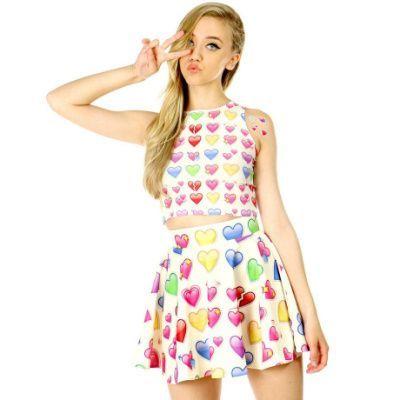 emoji corazon vestidos