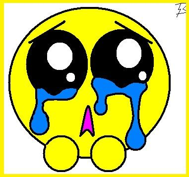 emoticon llorando de felicidad