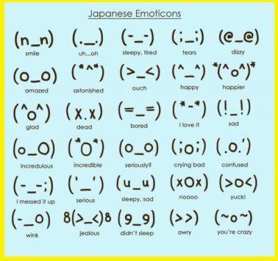 emoticones anime