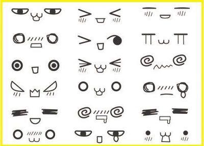 emoticones anime con el teclado