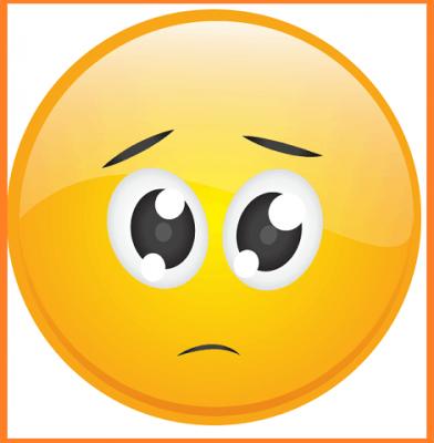 emoticonos caras tristes