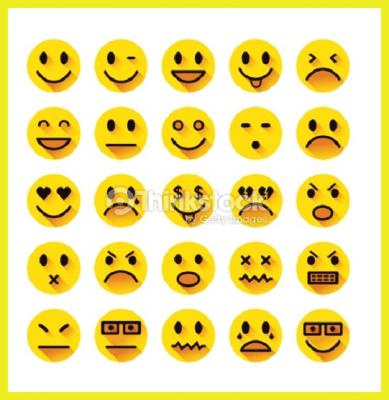 iconos de caras
