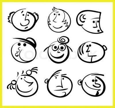 iconos de caras para facebook