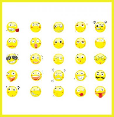 iconos de caras sonrientes