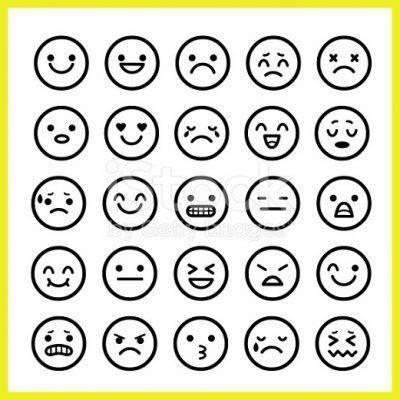 iconos de caras tristes