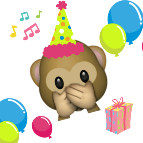 emoji mono cumpleaños