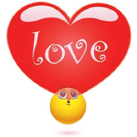 emoticon enamorado facebook