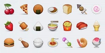 Emojis de bebidas y alimentos