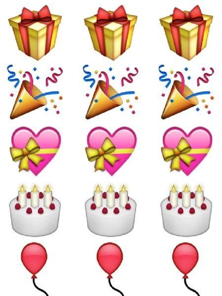 Emojis de presentes o regalos para fiesta