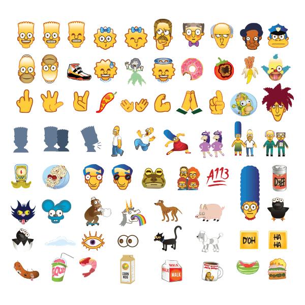 Emojis de los Simpson