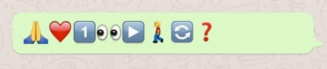 Amor mensaje con emoji