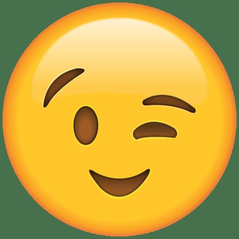 Emoji guiñando ojo