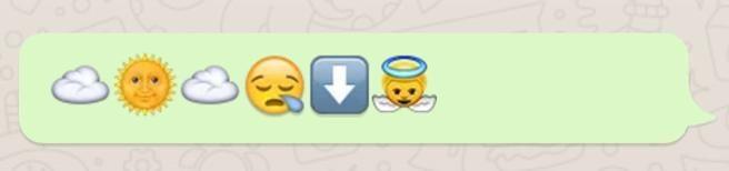 Mensaje cielo emojis