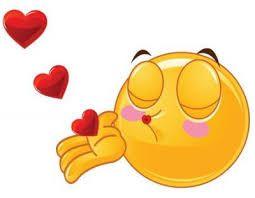 Emoji con amor besos