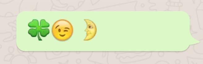 Mensaje luna emojis